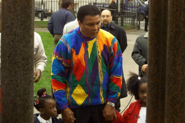 Mohammed Ali in a sweater