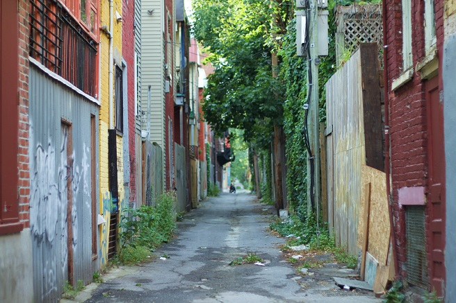 an alleyway in Montreal
