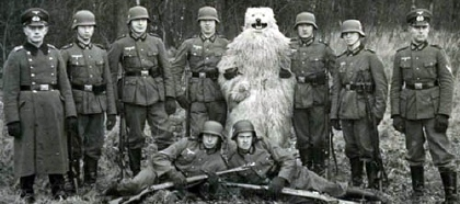 Bear with army