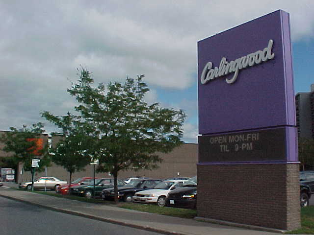 a sign at the entry of Carlingwood mall, Ottawa