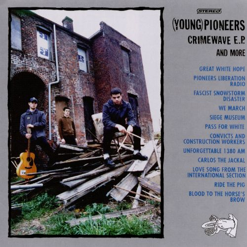 cover of the (Young) Pioneers's Crimewave EP, release circa 1997 by Vermiform records