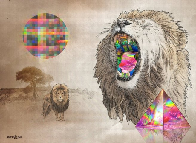 lions, by Disent