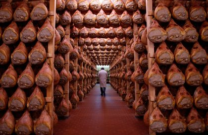 Down in ham storage