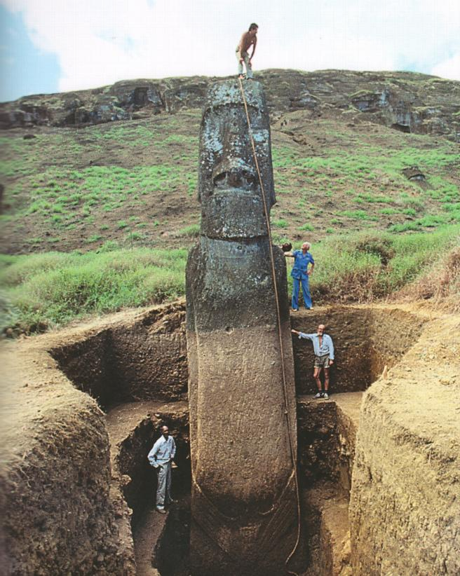 Easter Island, dug up
