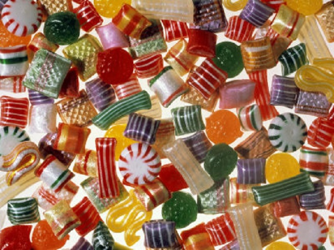 a beautiful assortment of hard candies