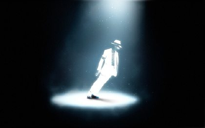 photo of Michael Jackson, modified by abduzeedo