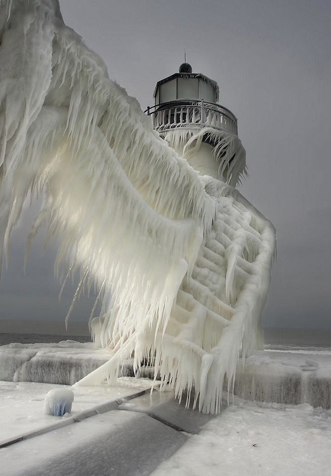 Frozen lighthouses
