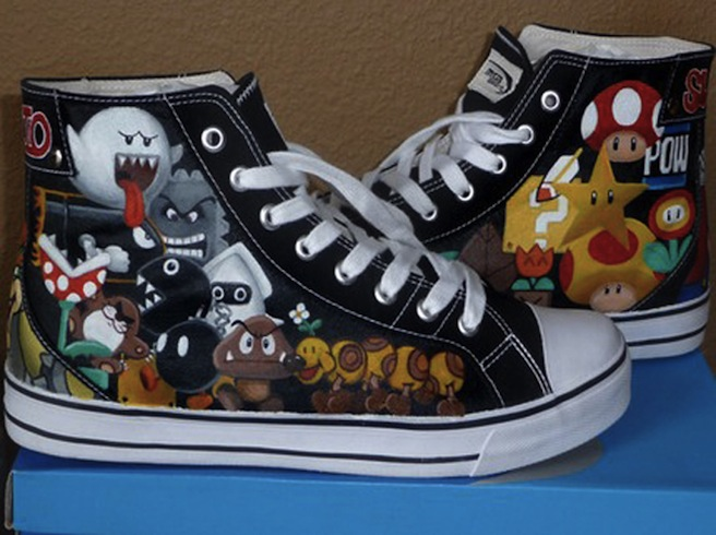 Super Mario high tops