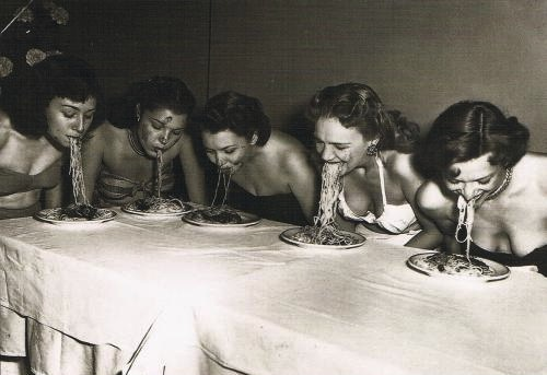 Spaghetti-eating contest