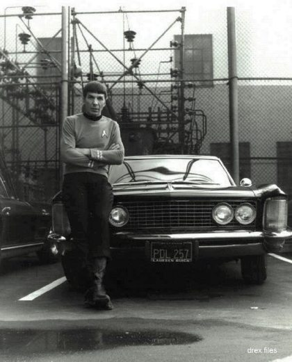 Spock and a car