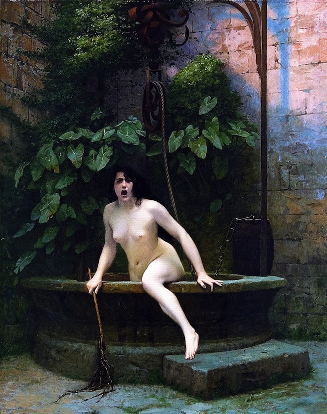 Jean-Leon Gerome's Truth Coming Out of Her Well to Shame Mankind